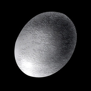 The dwarf planet Haumea.