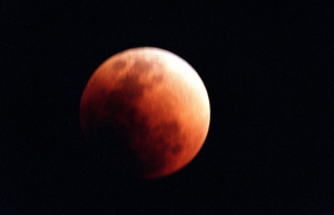 Lunar eclipse viewed from earth