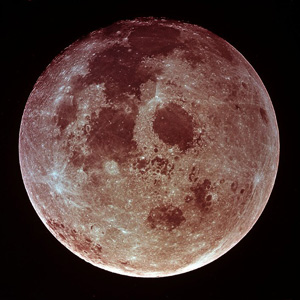 The moon photographed from the departing Apollo 11 craft