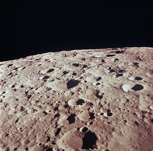 The surface of the moon - photographed during the Apollo 11 mission