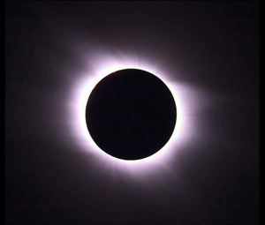 Totality - the point of a solar eclipse at which the moon blocks out the sun
